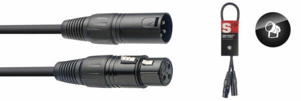 Stagg Dmx Cable, Xlr/Xlr (M/F), 50 Cm (1.6')