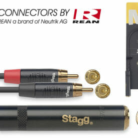 Stagg N-Series Y-Adapter Cable - Stereo Phone Jack / 2X