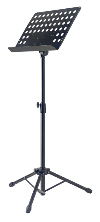 Stagg Standard Orchestral Music Stand W/Metal Sheet Rest (+Punched Holes)