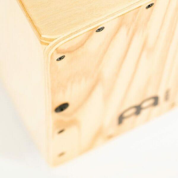 MC1HA Meinl Mini Cajon Heart Ash Front Plate Close up