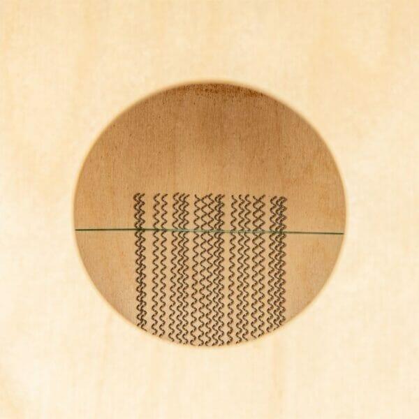 MC1HA Meinl Mini Cajon Heart Ash Front Plate Wires