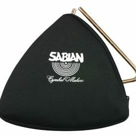 Sabian Black Zippered Triangle Bag 6""