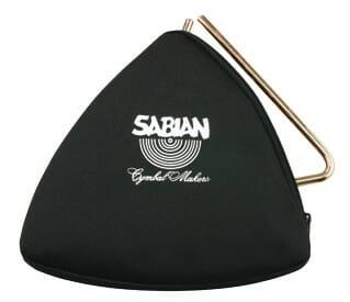 "Sabian Black Zippered Triangle Bag 6"""