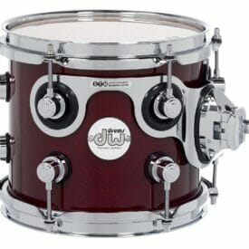 "DW Design Series 8"" x 7"" Tom Gloss Lacquer, Cherry Stain"