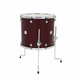"DW Design Series 18"" x 16"" Floor Tom Gloss Lacquer, Cherry Stain"