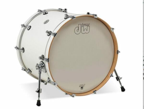 "DW Design Series 22"" x 18"" Bass Drum, Gloss Lacquer, White"