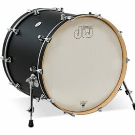 "DW Design Series 22"" x 18"" Bass Drum, Matte Lacquer, Black Satin"
