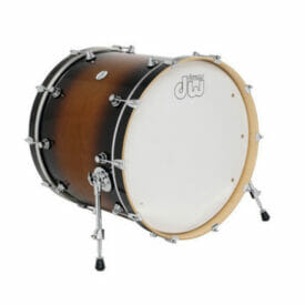 "DW Design Series 22"" x 18"" Bass Drum, Gloss Lacquer, Tobacco Burst"