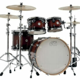 DW Shell set Design Cherry Stain 22/10/12/16 Without snare