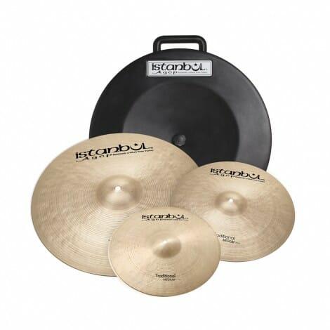 "Istanbul Agop Traditional Cymbal Set + Hardcase (14""/16""/20"")"