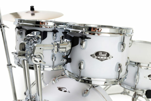 """Pearl Export EXX 20"""" LA Fusion Drum Kit with Free Drum Stool, Skype Drum Lesson and Sabian SBR Cymbal Pack - Matt White"""