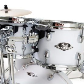 "Pearl Export EXX 20"" LA Fusion Drum Kit with Free Drum Stool, Skype Drum Lesson and Sabian SBR Cymbal Pack - Matt White"
