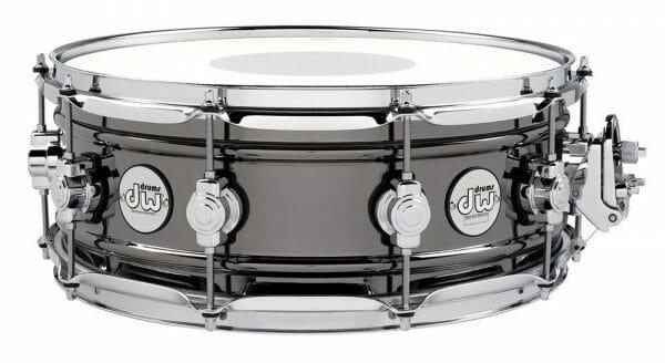 DW Snare Drum Design Black Brass 14 x 6.5 Twin Beaded