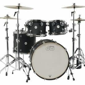 DW Shell set Design Black Satin 22/10/12/16 Without snare