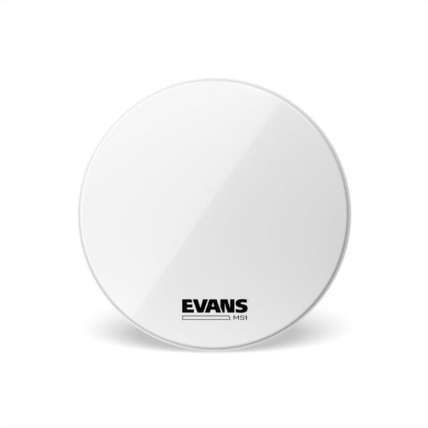 Evans MS1 White Marching Bass Drum Head, 16 Inch