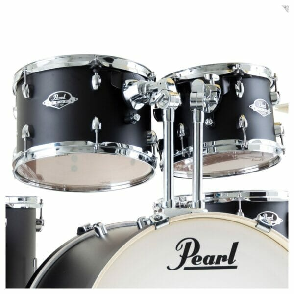 "Pearl Export EXX 22"" LA Fusion Drum Kit with Skype Drum Lesson and Sabian SBR Cymbal Pack - Satin Shadow Black"