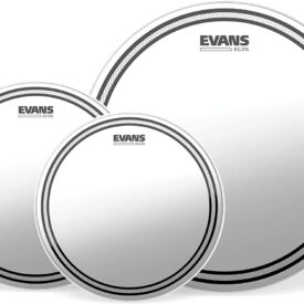 """Evans EC2S Clear Standard Pack (12"""", 13"""", 16"""") with 14"""" HD Dry Snare Batter"""