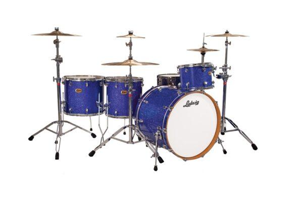 "Ludwig 26"" Centennial Zep 4 Piece Shell Pack - Blue Sparkle"