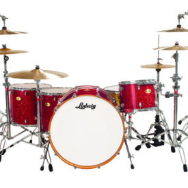 """Ludwig 24"""" Centennial Moto Shell Pack - Red Sparkle"""