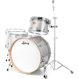 """Ludwig 24"""" Centennial Moto 4 Piece Shell Pack - Silver Sparkle"""