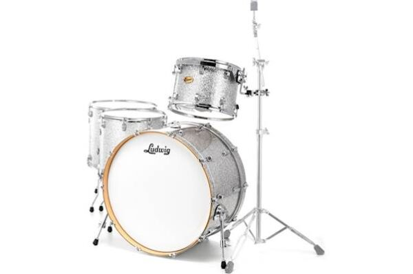 "Ludwig 24"" Centennial Moto 4 Piece Shell Pack - Silver Sparkle"