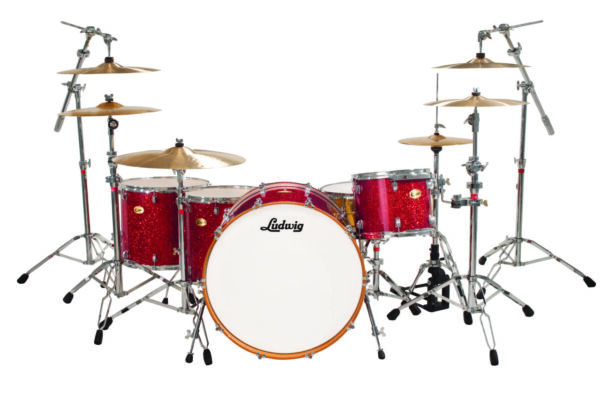 "Ludwig 26"" Centennial Zep 4 Piece Shell Pack - Red Sparkle"