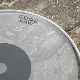 "Code 12"" Law Clear Drum Head"