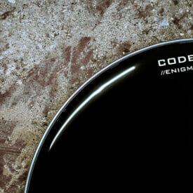 "Code 24"" Enigma Black Bass Drum Head"
