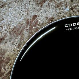 "Code 16"" Enigma Black Kick Drum Head"