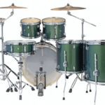 Ludwig 22″ Evolution 6 Piece Drum Kit with Hardware – Green Sparkle