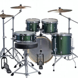 "Ludwig 20"" Evolution 5 Piece Drum Kit With Hardware - Green Sparkle"