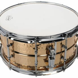 """Ludwig 14x6.5"""" Hammered Bronze Snare Drum"""