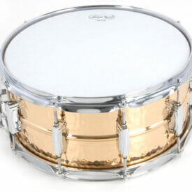 """Ludwig 14x5"""" Hammered Bronze Snare Drum With Imperial Lugs"""