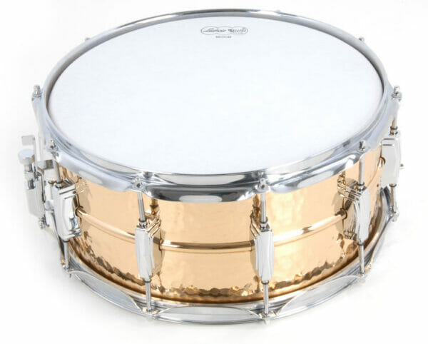 "Ludwig 14x5"" Hammered Bronze Snare Drum With Imperial Lugs"