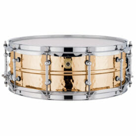 """Ludwig 14x5"""" Hammered Bronze Snare Drum with Tube Lugs"""