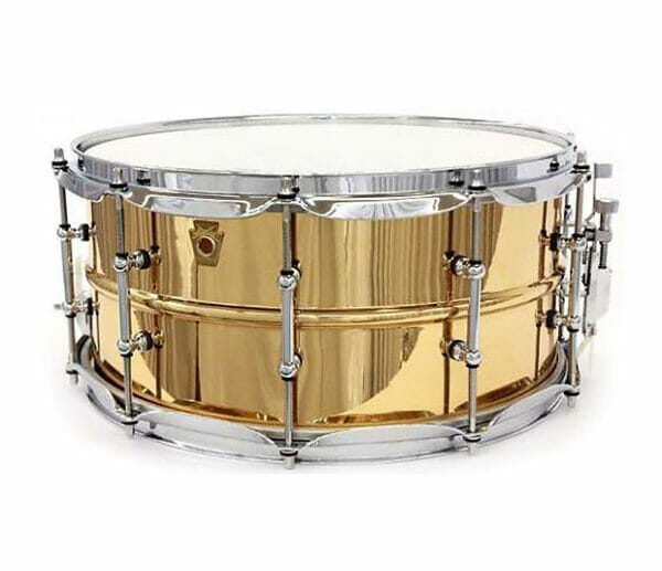 """Ludwig 14x6.5"""" Smooth Shell Bronze Snare Drum With Tube Lugs"""