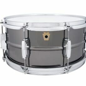 "Ludwig 14x6.5"" 8 Lug Black Beauty Snare Drum"