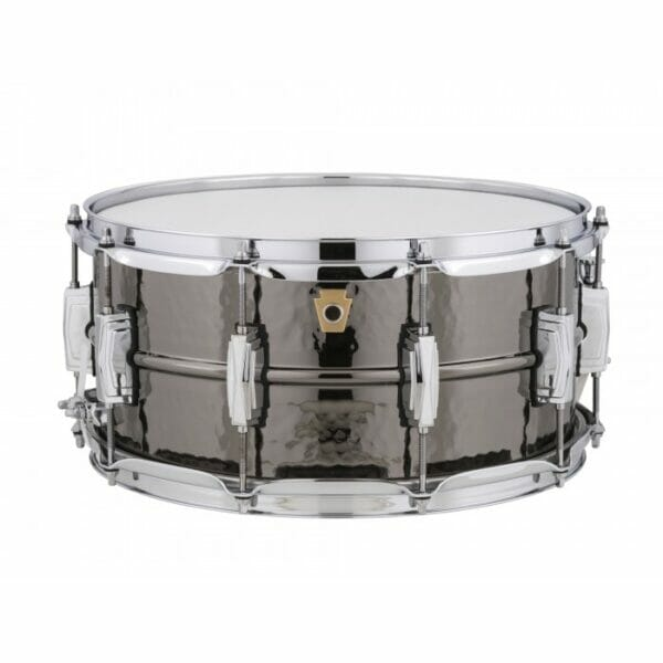 "Ludwig 14x6.5"" Black Beauty Hammered Shell Snare Drum, Imperial Lugs"