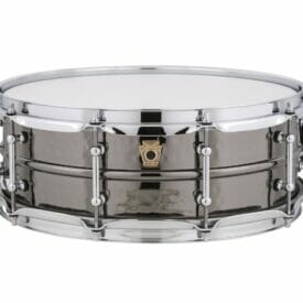 "Ludwig 14x5"" Black Beauty Hammered Shell Snare Drum, Tube Lugs"