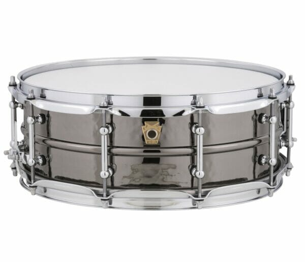 """Ludwig 14x5"""" Black Beauty Hammered Shell Snare Drum, Tube Lugs"""