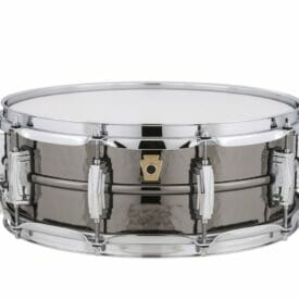 "Ludwig 14x5"" Black Beauty Hammered Shell Snare Drum, Imperial Lugs"