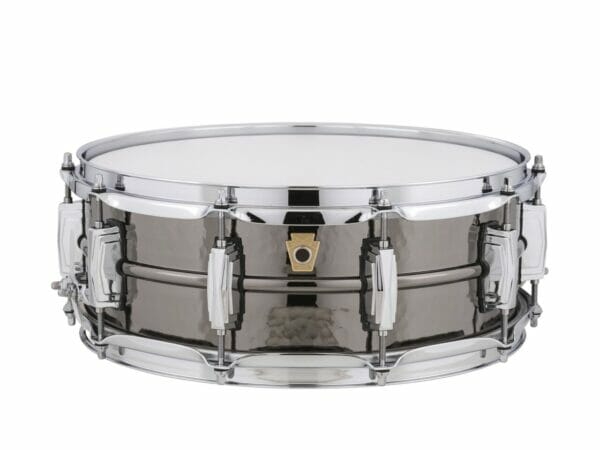 """Ludwig 14x5"""" Black Beauty Hammered Shell Snare Drum, Imperial Lugs"""