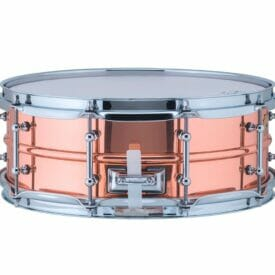 "Ludwig 14x5"" Polished Copper Phonic Snare Drum, Tube Lugs"