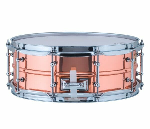 """Ludwig 14x5"""" Polished Copper Phonic Snare Drum, Tube Lugs"""