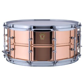 "Ludwig 14x6.5"" Copper Phonic Polished Snare Drum with Tube Lugs"