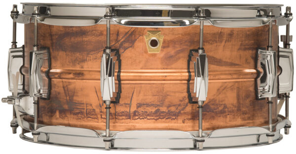 "Ludwig 14x6.5"" Raw Copper Snare Drum with Imperial Lugs"