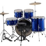 Ludwig Accent Drive 22 5 Piece Starter Drum Kit – Blue Foil 2