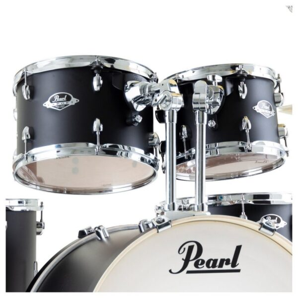 """Pearl Export EXX 20"""" Fusion Drum Kit with Skype Drum Lesson and Sabian SBR Cymbal Pack - Satin Black LIMITED EDITION"""