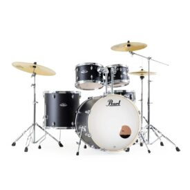 "Pearl Export EXX 20"" Fusion Drum Kit with Skype Drum Lesson and Sabian SBR Cymbal Pack - Satin Black LIMITED EDITION"