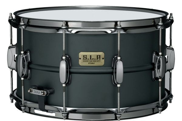 """The LST148 """"Big Black Steel"""" snare fills the roll of the classic, heavy fisted, rock snare drum-and then some. It's husky 8"""" depth hardened Steel shell provides maximum power and volume, making it the idea choice for players who needs to cut through the crushing din of overbearing guitar amplification."""